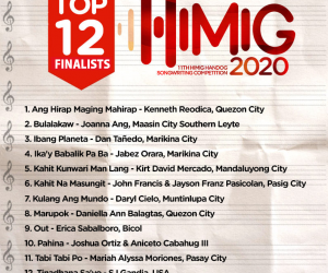 Himig Handog Top 12 Released